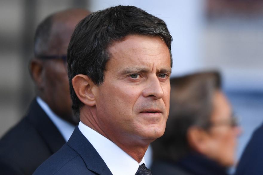 L'ancien Premier ministre Manuel Valls à un service religieux pour Jacques Chirac à l'église Saint-Sulpice à Paris, le 30 septembre 2019.