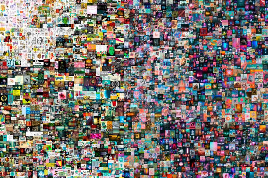 Le NFT de ce tableau numérique de l'artiste Beeple a trouvé preneur pour 70 millions de dollars en mars 2021