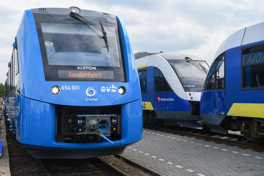 Un train à hydrogène en Allemagne (illustration)