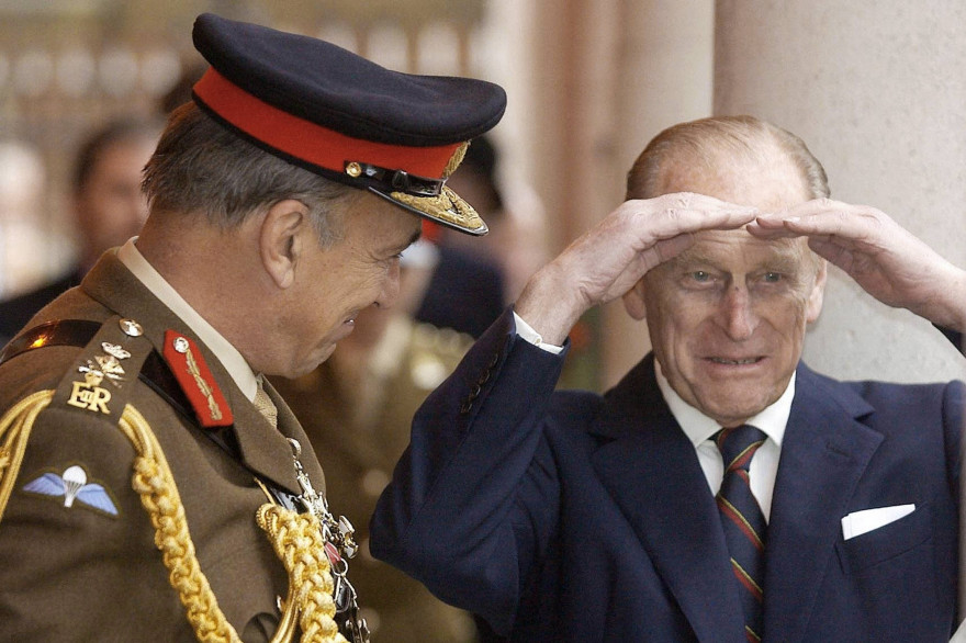 Le prince Philip et le General Sir Mike Jackson