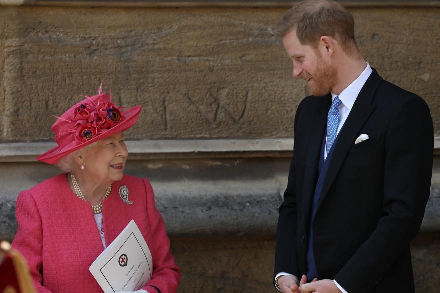 La reine Elizabeth II et le prince Harry le 18 mai 2019