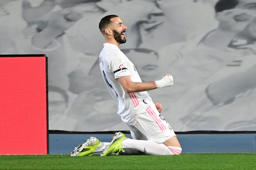 Karim Benzema a ouvert le score d'une subtile talonnade.