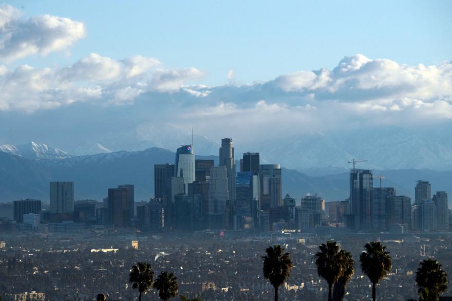 Photo de Los Angeles prise le 29 décembre 2020. (Illustration)