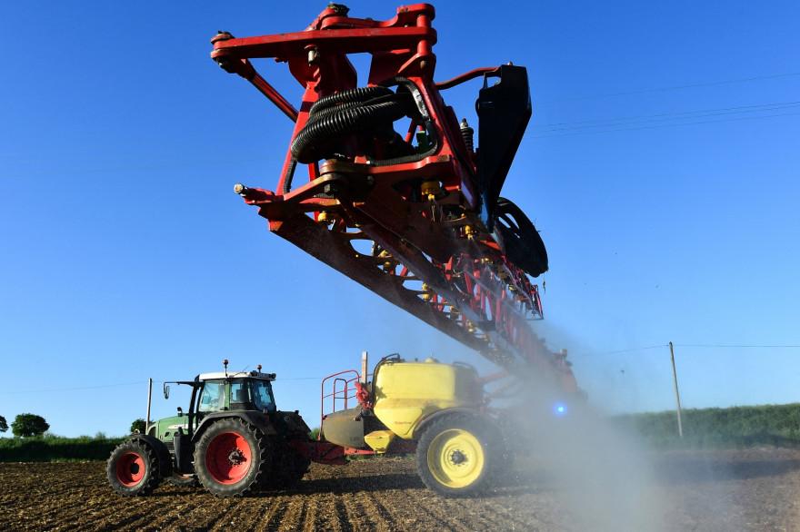 Une exploitation agricole à Piacé (Sarthe) le 11 mai 2018