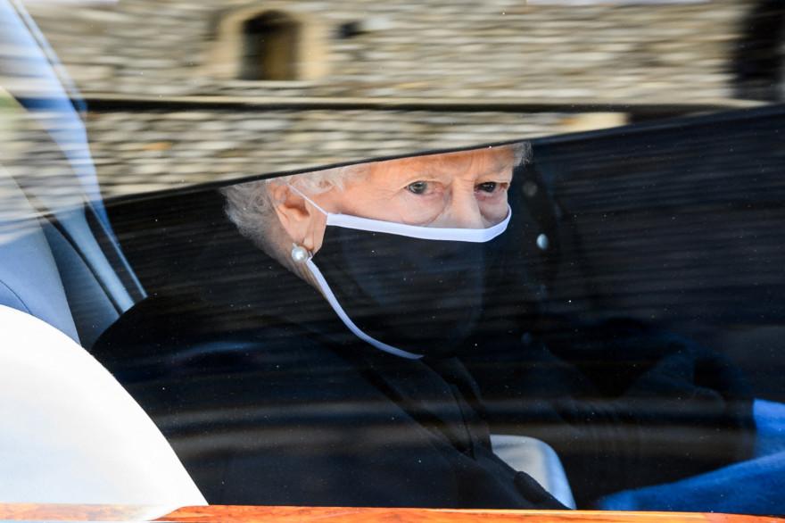 Elizabeth II lors des obsèques du prince Philip, le 17 avril 2021