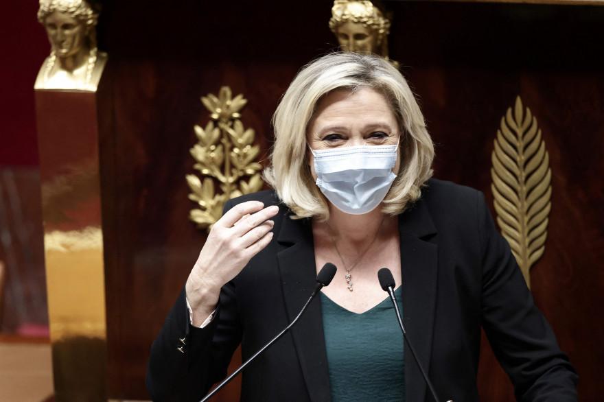 Marine Le Pen, à l'Assemblée nationale le 1er avril 2021