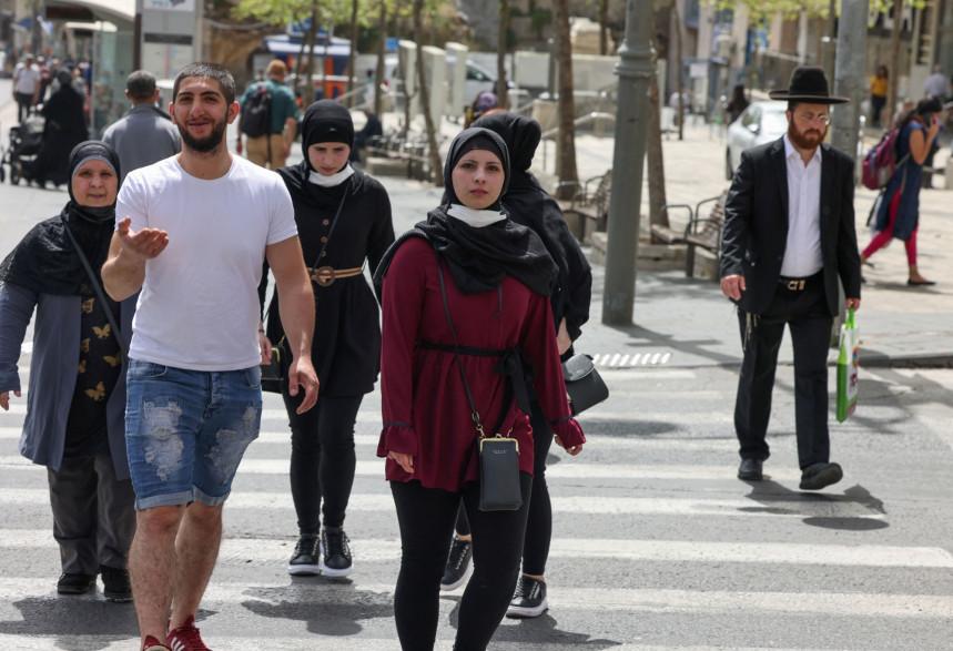 Une rue de Jérusalem, le 18 avril 2021