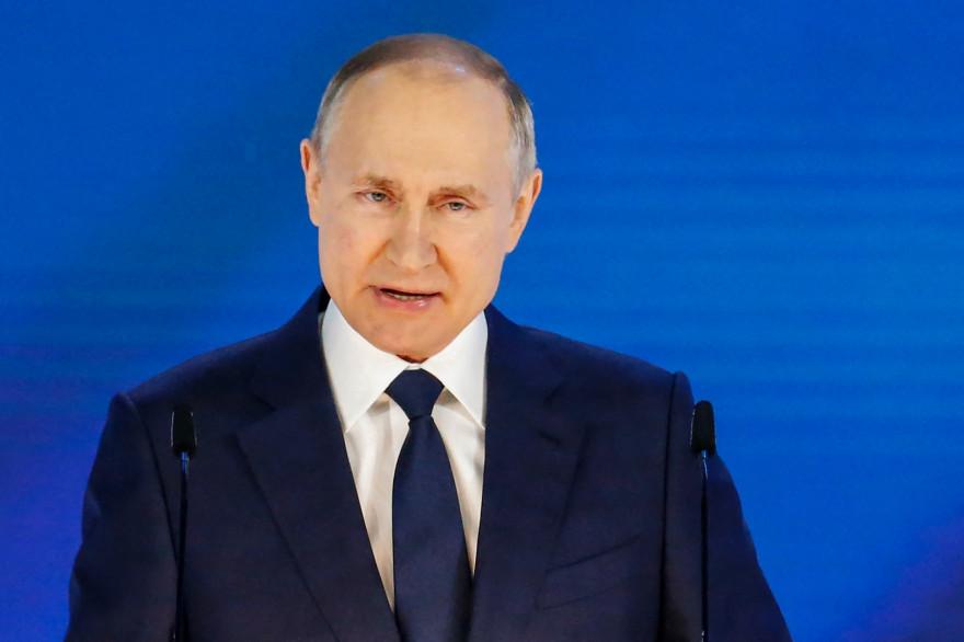 Le président russe Vladimir Poutine, le 21 avril 2021