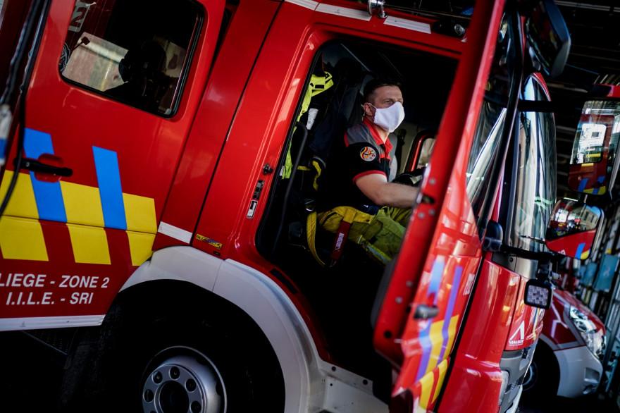 Un pompier belge (illustration).