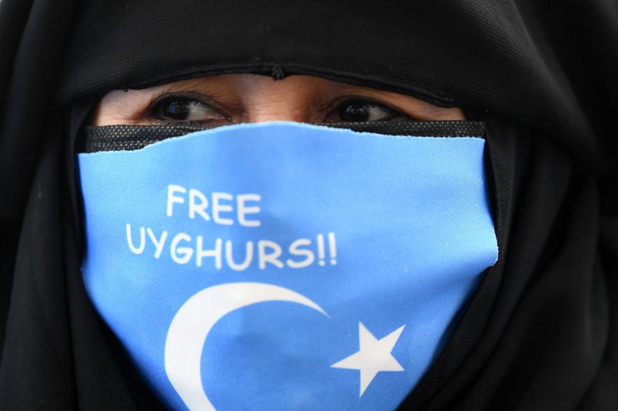 Une manifestante pour la libération des Ouïghours en Turquie (illustration)