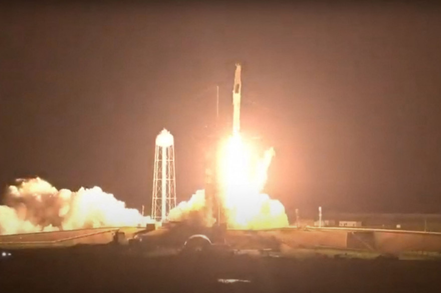 La fusée Falcon 9 de SpaceX, embarquant Thomas Pesquet, a décollé ce vendredi 23 avril