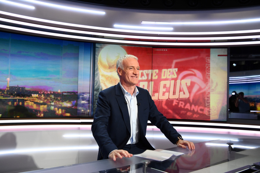 Didier Deschamps sur le plateau du 20 heures de TF1 le 17 mai 2018