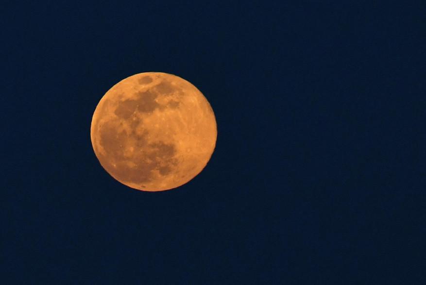 """Une """"Super Lune rose""""."""