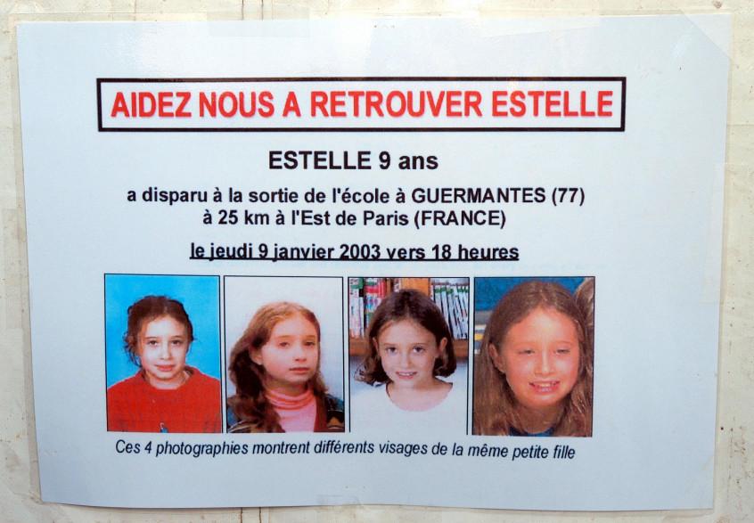 L'avis de recherche, partagé à l'époque de la disparition de la fillette.