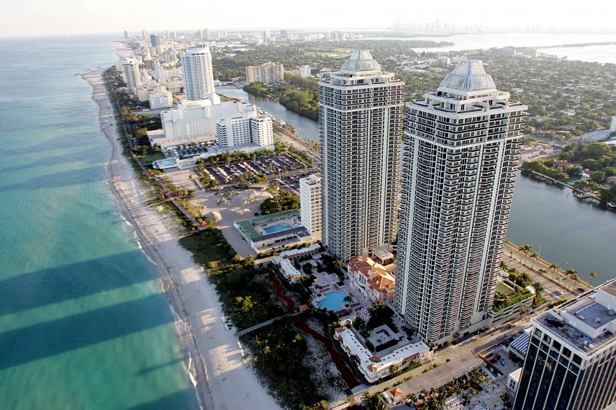 Vue aérienne de Miami le 24 avril 2005. (Illustration)