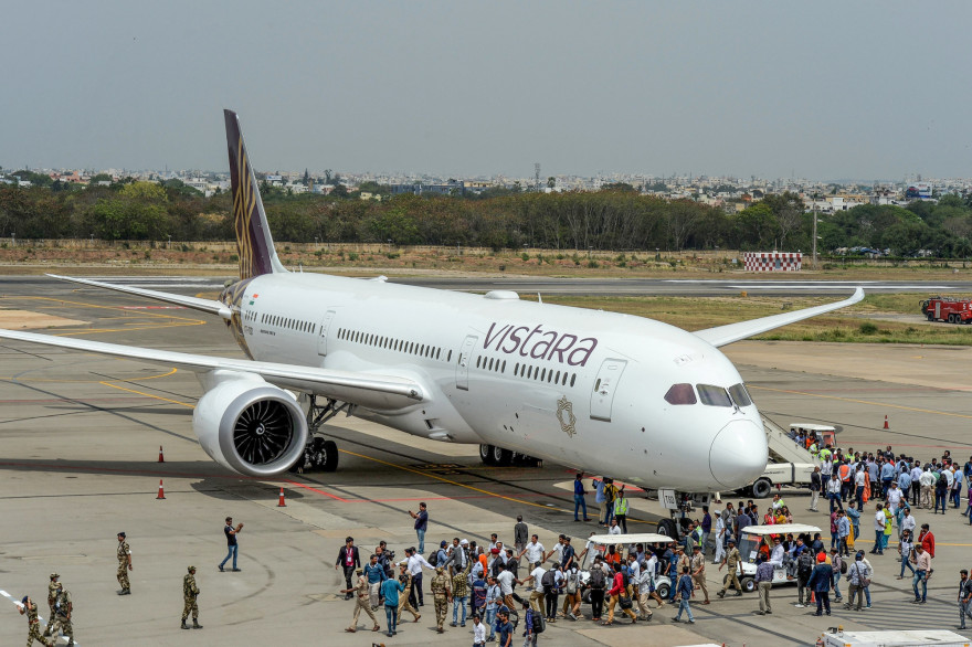 Un avion de la compagnie aérienne indienne Vistara (illustration).