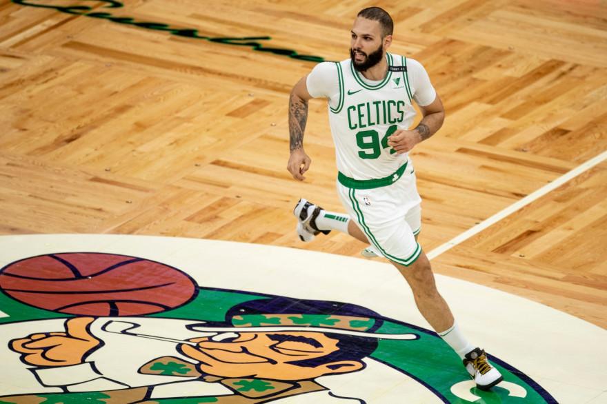Evan Fournier le 30 avril 2021 avec les Boston Celtics