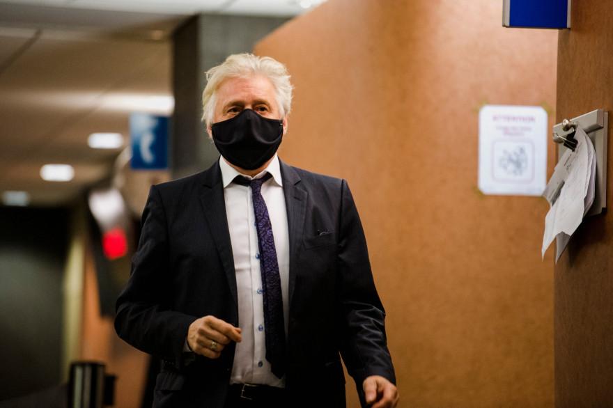 Photo de Gilbert Rozon au Palais de justice de Montréal, au Québec, le 15 décembre 2020. (Illustration)