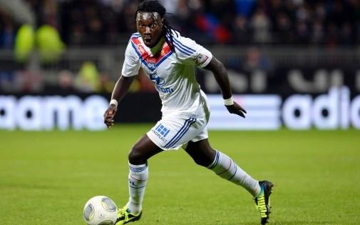 Bafétimbi Gomis sous les couleurs de l'Olympique Lyonnais