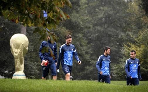 L'équipe de France de football à Clairefontaine